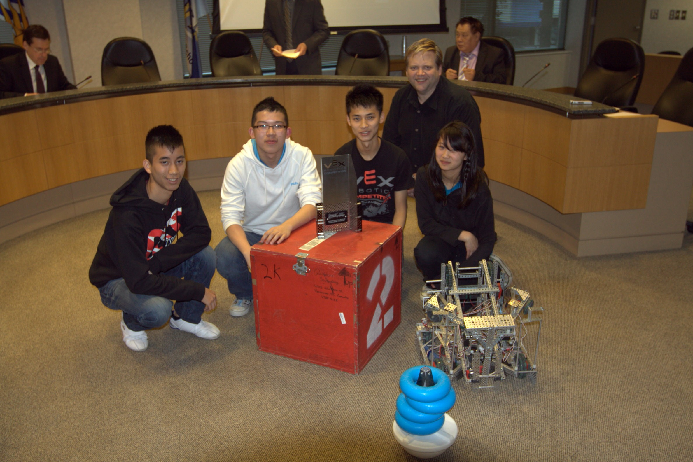 Vancouver School Board Shows Off Gladstone Robotics