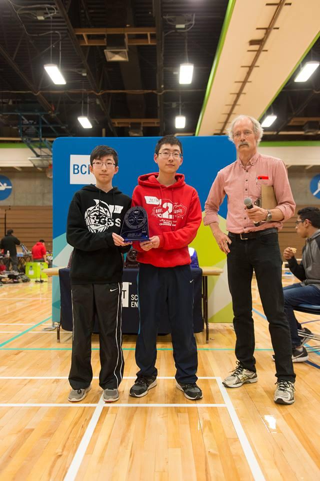 Gladstone 2U Robotics Excellence Award Div B